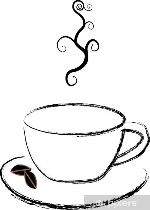 Nálepka Pixerstick Šálek kávy - Prodej