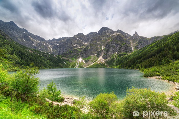 Eye of the Sea lake in Tatra mountains, Poland Vinyl Wall Mural - Spring