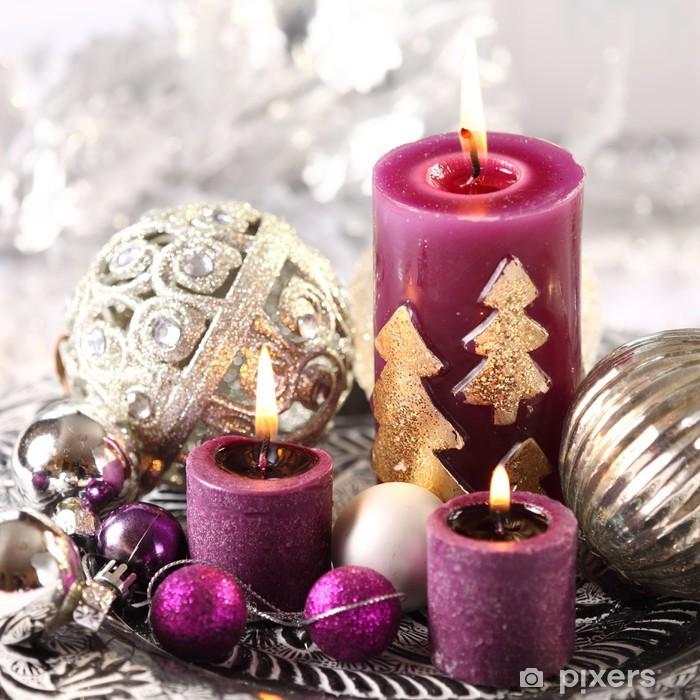 Kerzen Weihnachten.Aufkleber Weihnachten Kerzen Und Schmuck Pixerstick