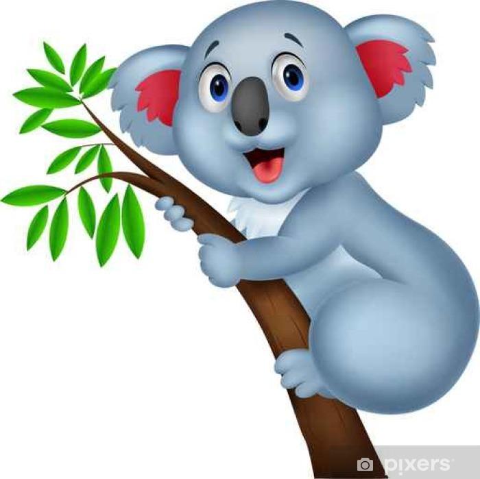 Adesivo koala carino cartone animato pixers viviamo