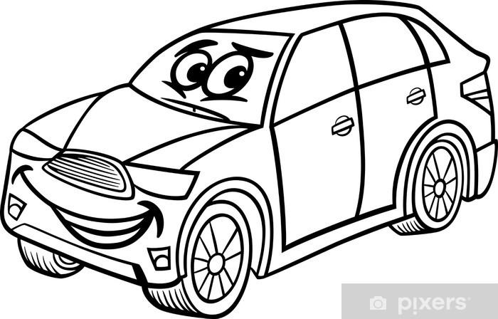 Suv Araba Karikatür Boyama Duvar Resmi Pixers Haydi Dünyanızı