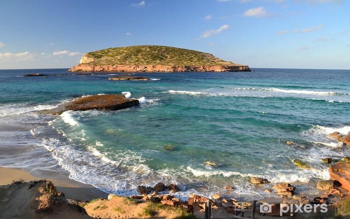Fotomural Estándar Playa de Cala Comte en Ibiza, España - Europa