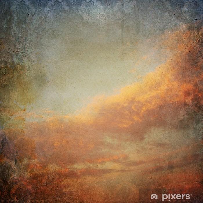 Pixerstick Sticker Vintage achtergrond met wolken in de lucht - Stijlen