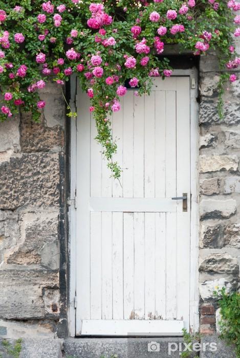 Fototapete Trailing Rosen Auf Garten Tür Pixers Wir Leben Um