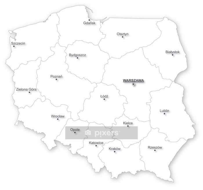 Vektori Kartta Poland Voivodeships Seinatarra Pixers Elamme