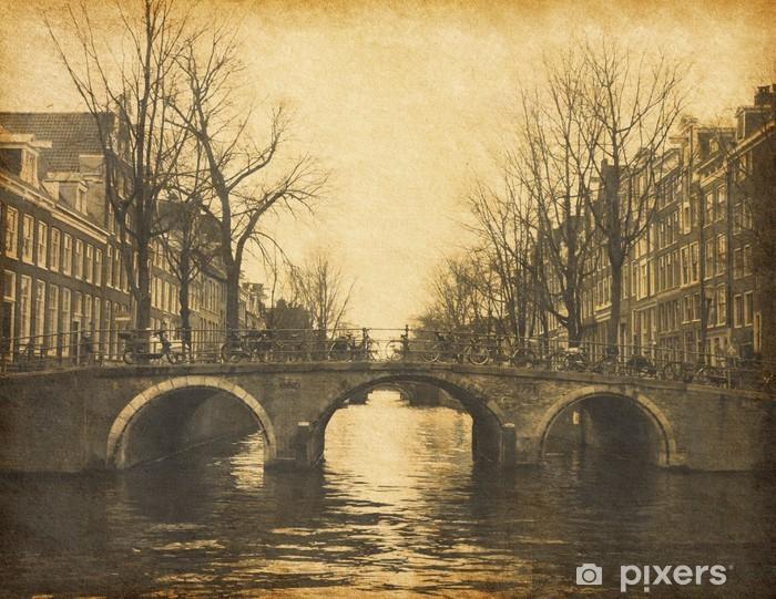 Papier peint vinyle Amsterdam, Pays-Bas. La texture du papier. - Villes européennes