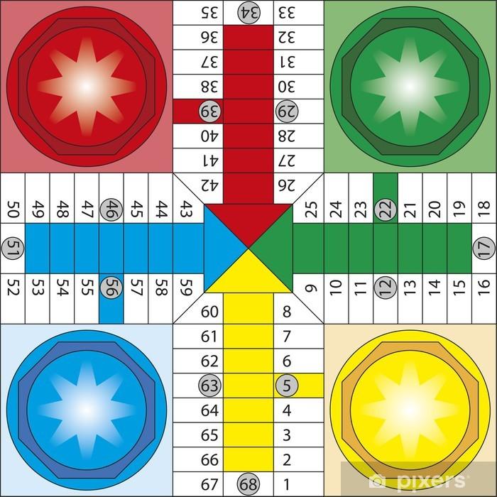 Sticker Pixerstick Parchis - Jeux