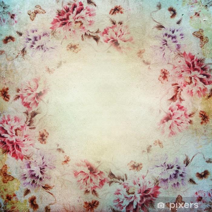 Fototapete Vintage-shabby chic Hintergrund mit Rosen