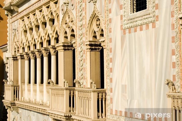 Fototapeta winylowa Zamknąć na balkon Kolumny Wenecji - Budynki przemysłowe i handlowe