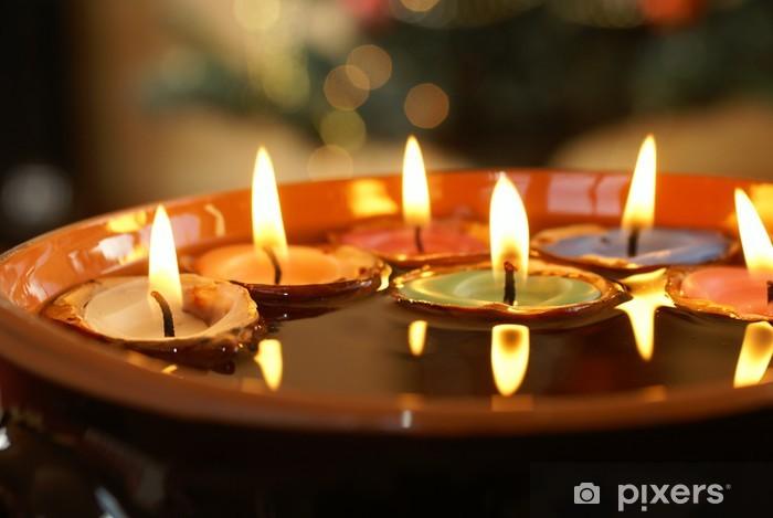 Kynttilät nuthells. Pixerstick tarra - Kansainväliset Juhlinnat
