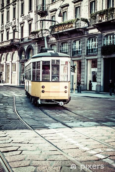 Vinyl Fotobehang Oude Europese straat, Bergamo, Italië - Europa