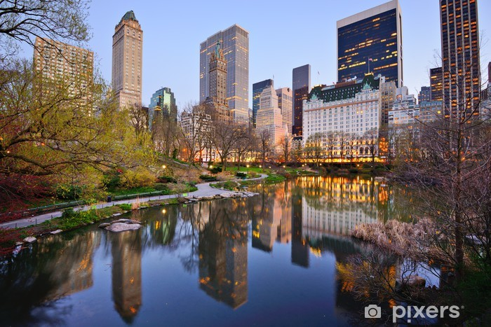 Naklejka Pixerstick New York City Central Park Lake - Tematy