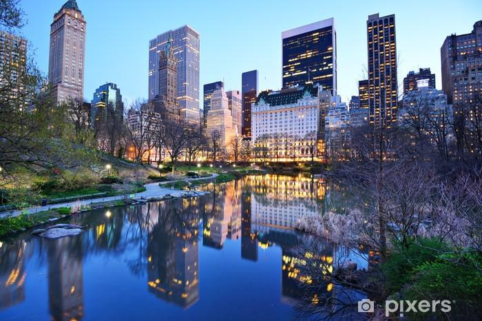 Vinilo Pixerstick New York City Central Park Lake - Temas