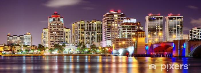 West Palm Beach Skyline Vinyl Wall Mural - America
