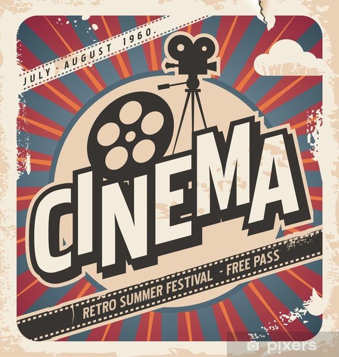 Papier peint vinyle Rétro affiche de cinéma - Thèmes