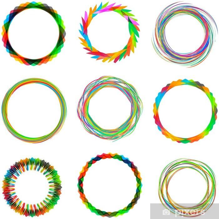 Naklejka Pixerstick Zestaw kolorowych kręgów, abstrakcyjnych elementów - Inne uczucia