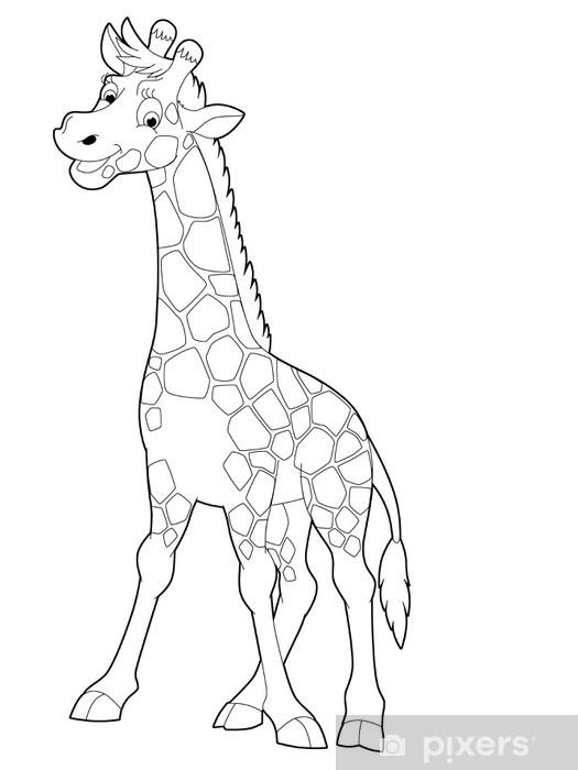 Karikatür Safari Boyama çocuklar Için çizim Duvar Resmi Pixers
