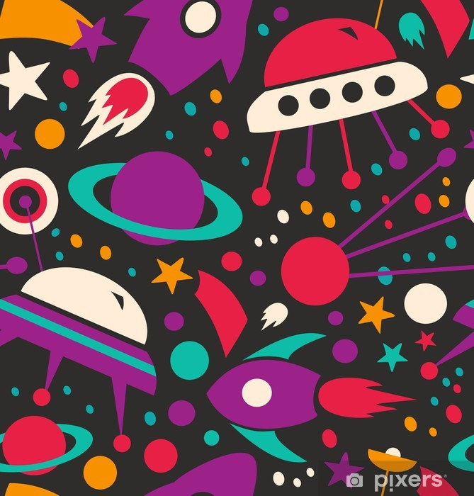 Seamless contrast cosmic pattern Vinyl Wall Mural - Stars