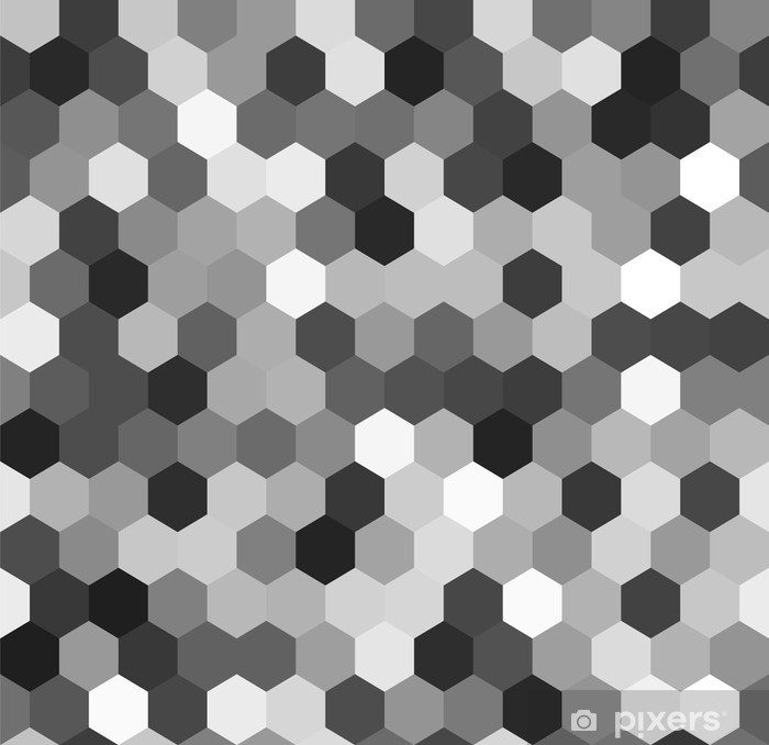 Hexagon seamless pattern in shades of grey, vector Framed Poster - Geometry