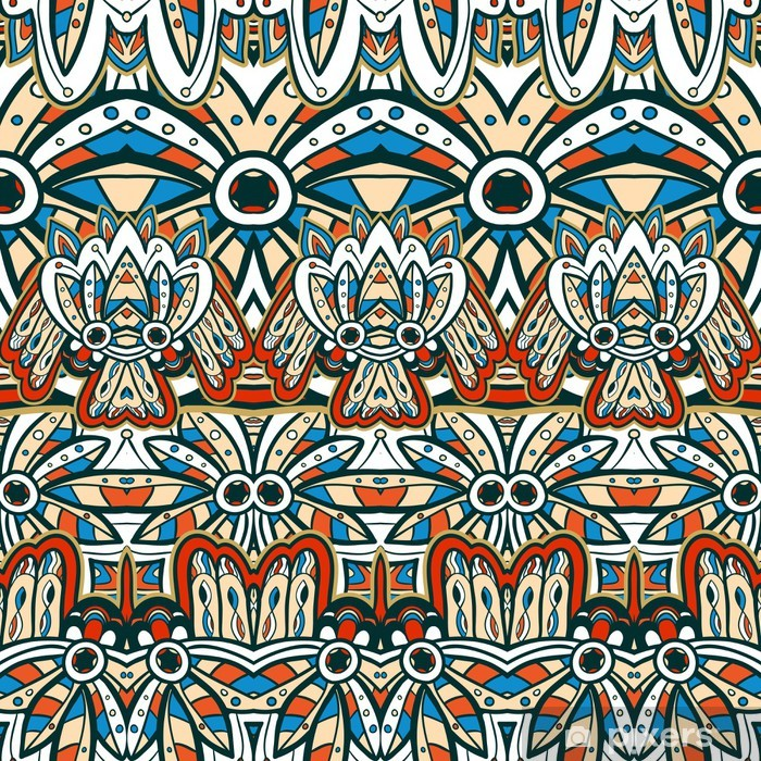 Poster American Indian seamless - Styles
