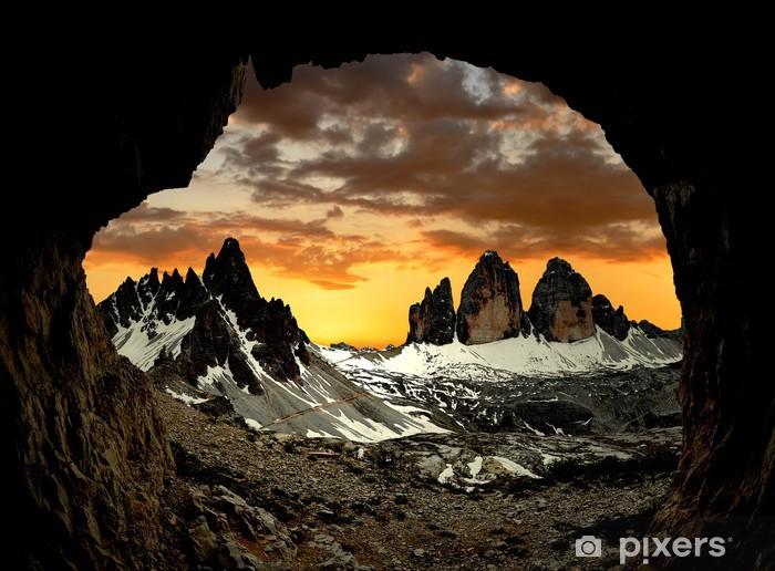 Pixerstick Dekor Tre Cime di Lavaredo med Paternkofel vid solnedgången, Italien - Europa