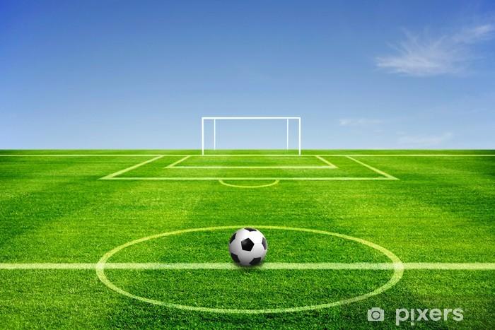 Sticker Pixerstick Une balle sur le terrain de football - Sports collectifs