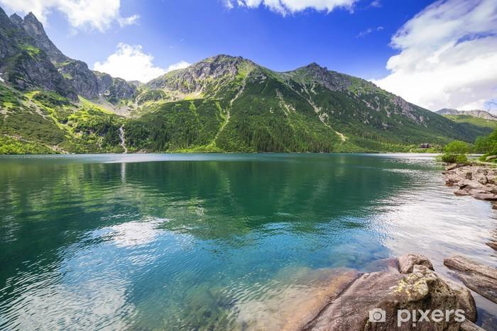 Pixerstick Sticker Oog van de zee meer in Tatra gebergte, Polen - Thema's