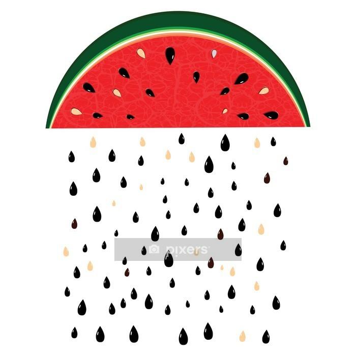 Muursticker Watermeloen regen - Wetenschap en natuur