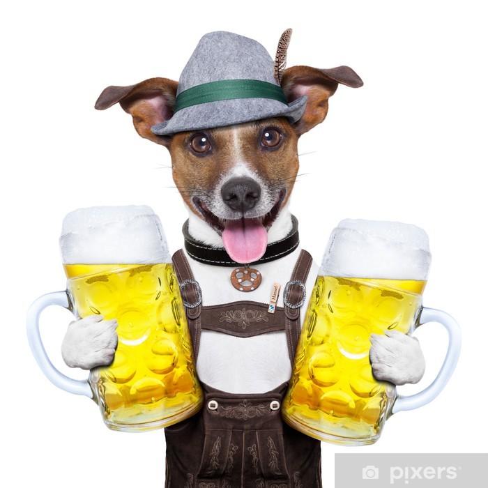 Sticker Pixerstick Oktoberfest chien - Célébrations