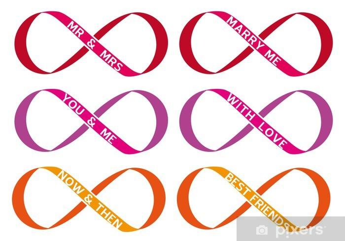 infinity sign, endless love, vector set Self-Adhesive Wall Mural - Happiness