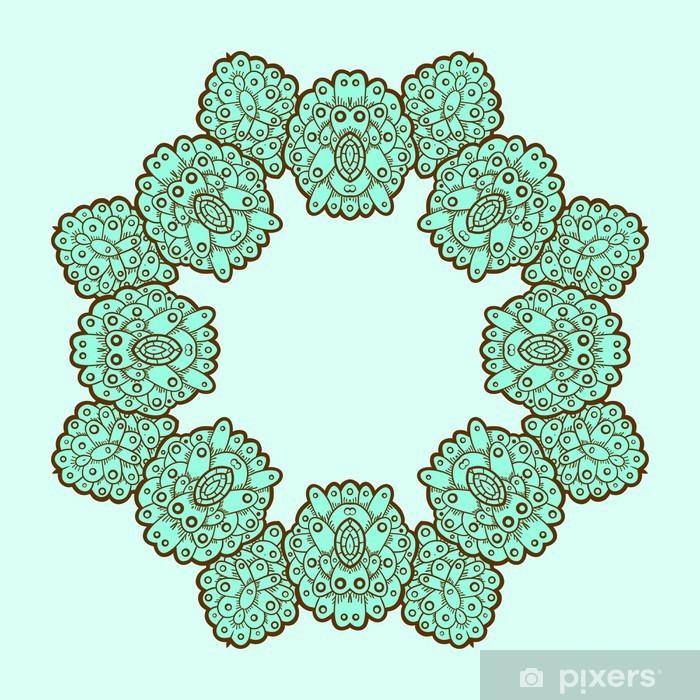Sticker Pixerstick Motif de dentelle ornement. Cercle. - Art et création