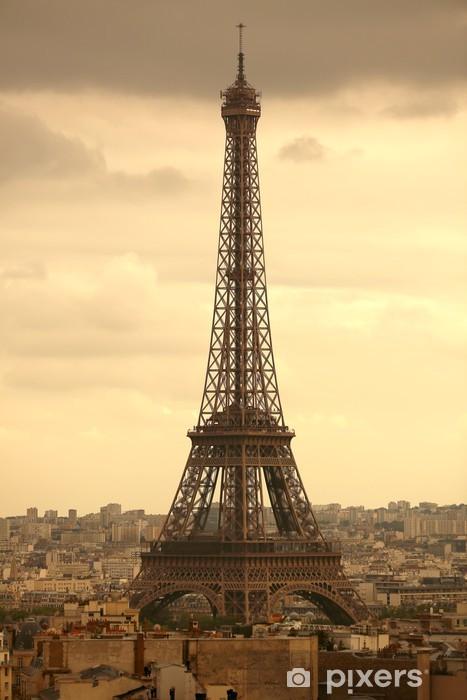 Vinilo Pixerstick Panorámica de la torre Eiffel, París, - Temas