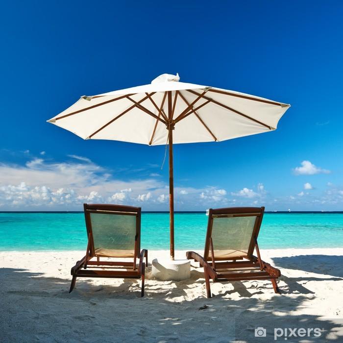 Plakat Piękna plaża na Malediwach - Wakacje