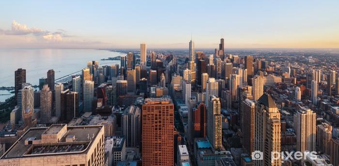 Chicago Skyline Vinyl Wall Mural Themes