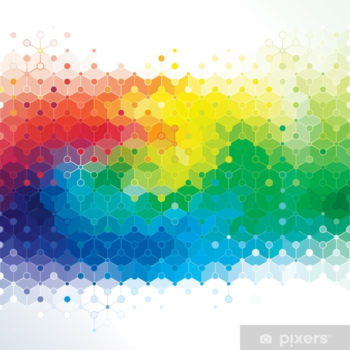 Abstract colors background of DNA molecule structure. Pixerstick Sticker - Themes