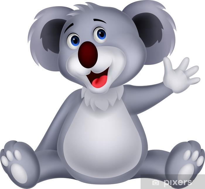 Carino ragazza koala cartone animato valentina backgorund