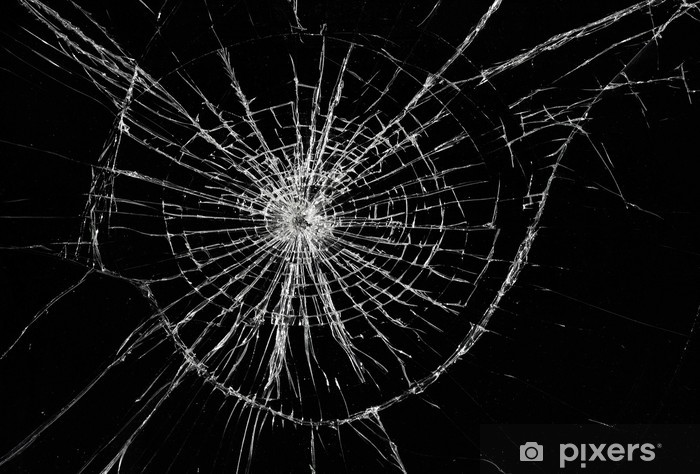 Broken Window Background Of Cracked Glass Wall Mural