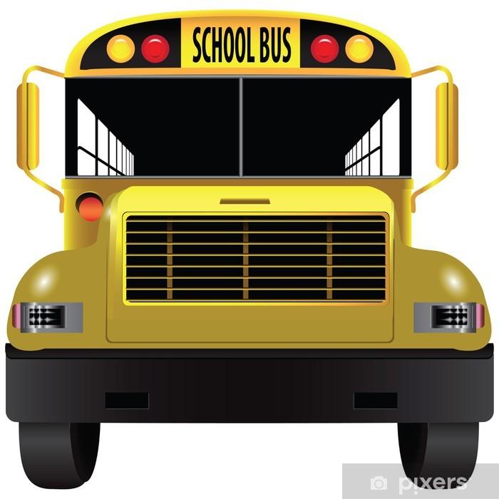 Papier peint vinyle Ecole bus frontal - Sticker mural