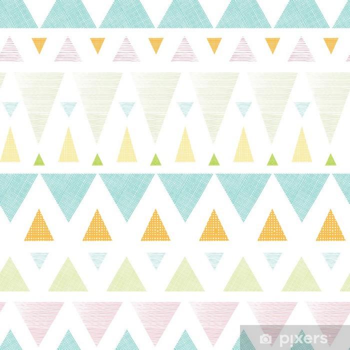 Plakát Vector abstraktní ikat trojúhelníky pruhy bezešvé vzor - Styly