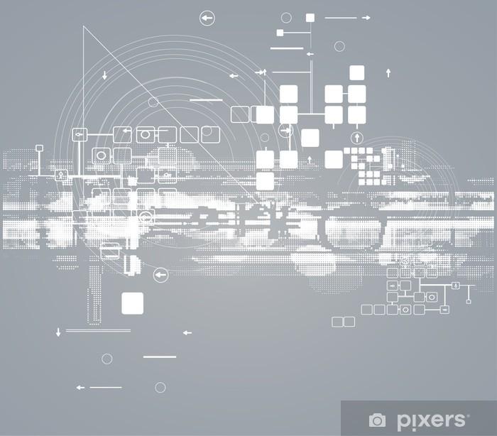 Papier peint vinyle La science futuriste entreprise de haute technologie informatique internet - Concepts