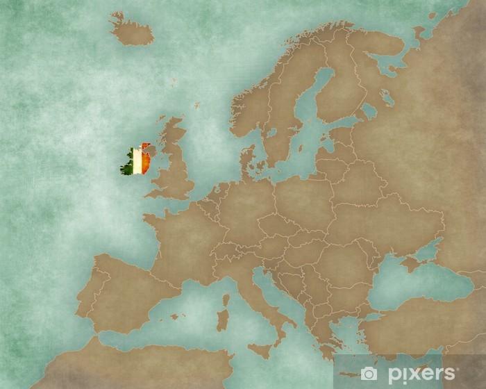 Irland Karte Europa.Fototapete Karte Von Europa Irland Dunkel