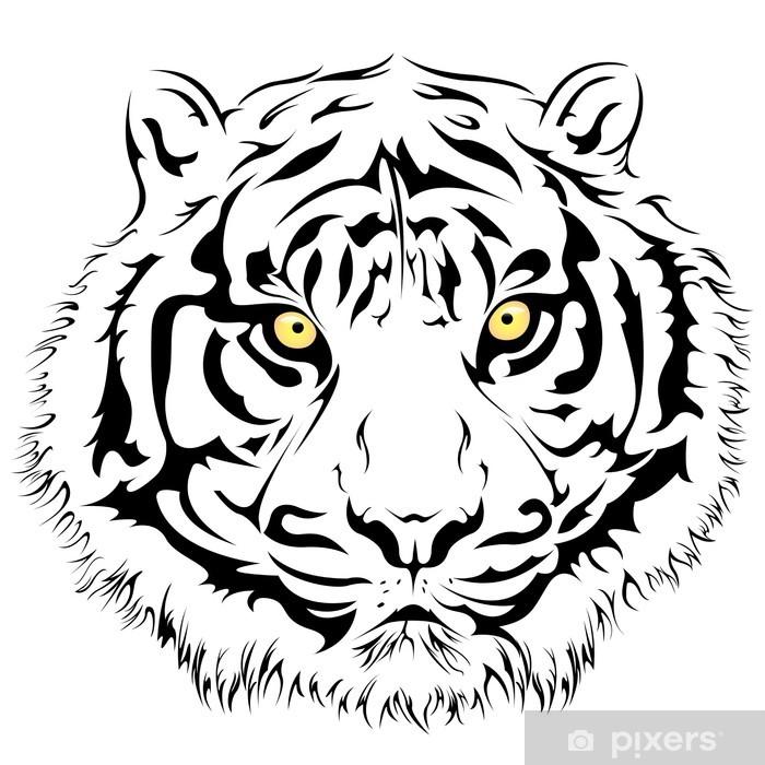 Fotomural La cara del tigre, Vector • Pixers® - Vivimos para cambiar