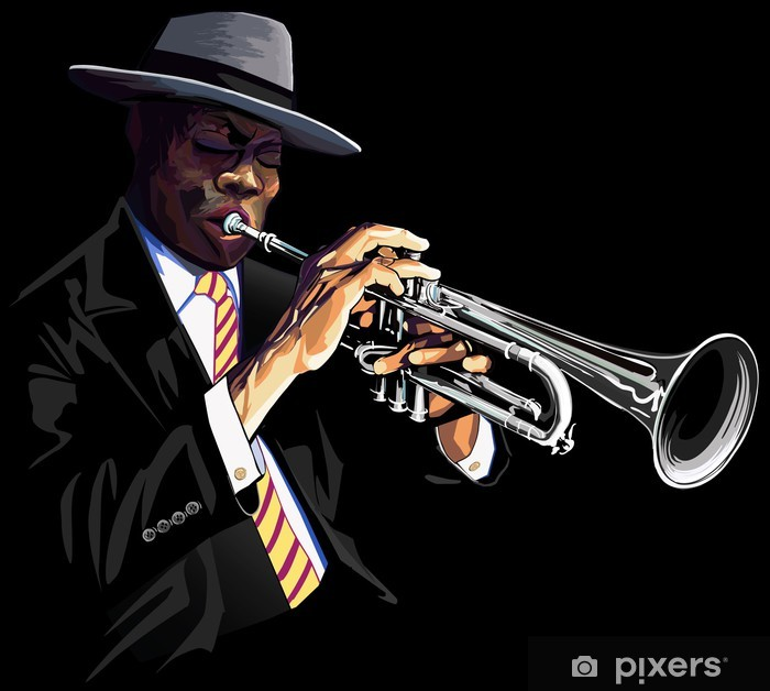 Vinyl Fotobehang Trompettist - jazz