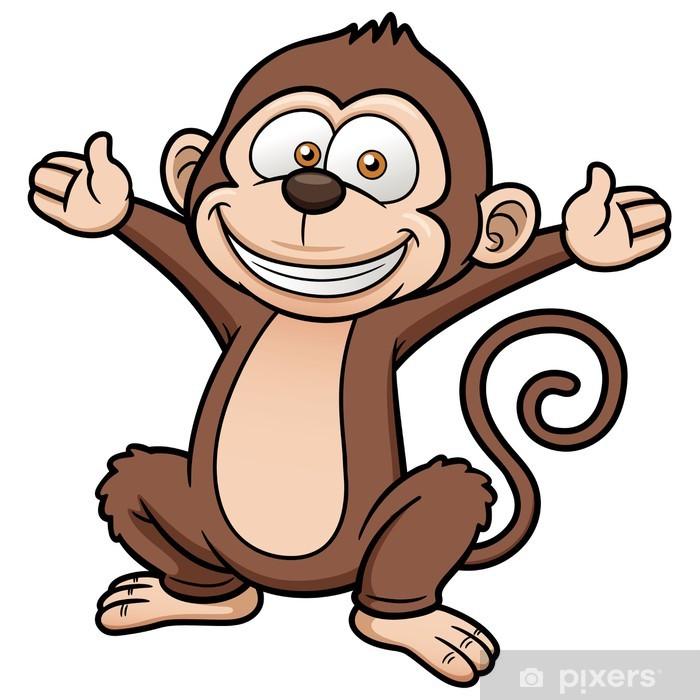Vector illustration of Cartoon Monkey Poster - Mammals