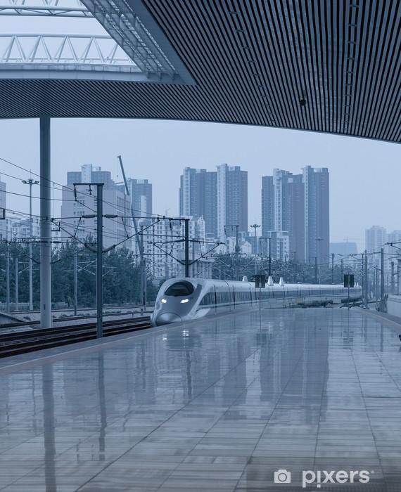 Papier peint vinyle Station de train à grande vitesse - Thèmes
