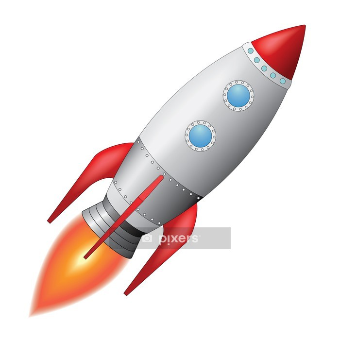 Space Rocket Wall Decal - Outer Space