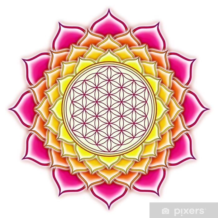 Fototapeta winylowa Lotus Flower of Life - Naklejki na ścianę