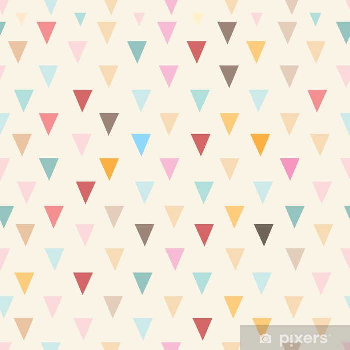 Vinyl Fotobehang Abstracte textuur driehoeken - Stijlen