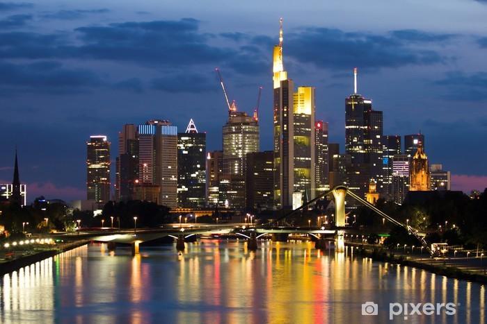 Naklejka Pixerstick Widok na Frankfurt - Tematy