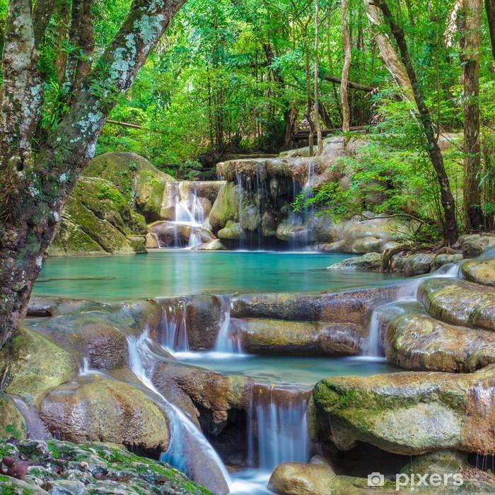 Nálepka Pixerstick Erawan Waterfall - Vodopády